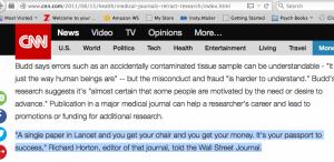 CNN search for Horton Lancet story