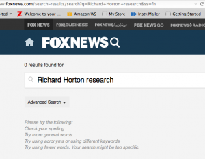 Fox News re Horton Lancet story