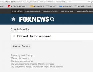 Fox News re Horton Lancet story