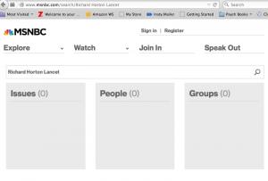 MSNBC search for Horton Lancet story